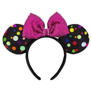 NWT Disney Minnie Mouse Sequin Bow Headband